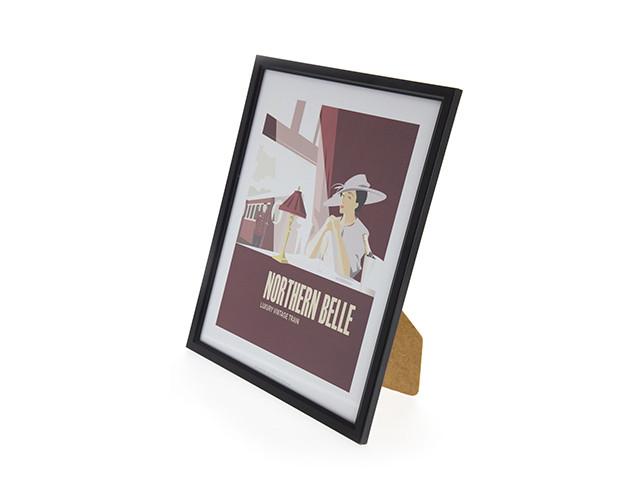 Northern Belle Framed Print (Black)