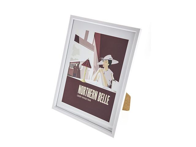 Northern Belle Framed Print (White)